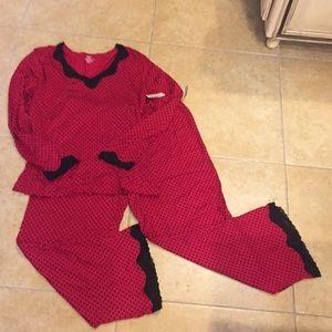 Black and red polka dot pajamas